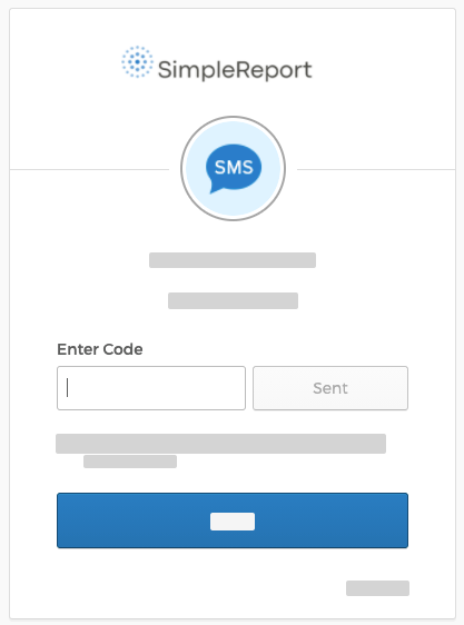 "Okta page with the ""Enter code"" field shown"